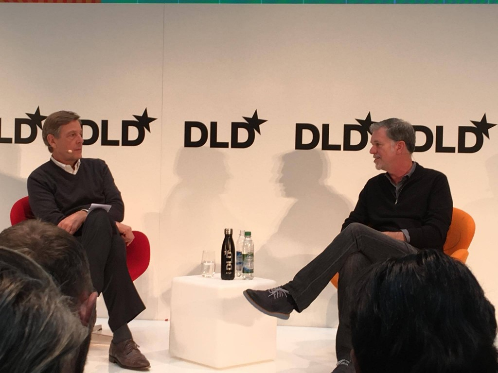 Reed Hastings, Claus Kleber, DLD16