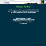 Sehr simple Webseite. Damals gab es noch nicht mal Podcasting.