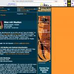 Unsere Webseite bei Radio Q. Das war eigentlich eine ziemlich coole Seite, wenn ich mich zurück erinnere.