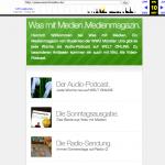 Malte hat diese wunderbare Portal-Seite gemacht. Verlinkung auf die Radioseite, den Podcast, das Blog.