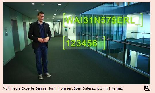 Datenschutz - Screenshot WDR.de