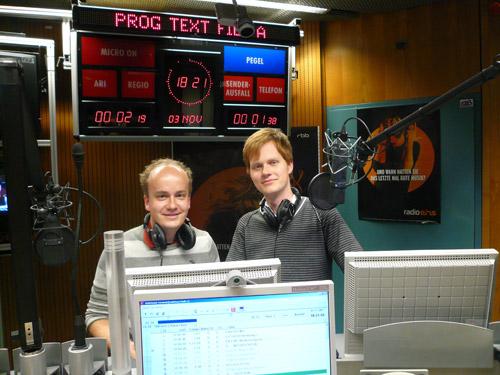 Daniel und Herr Pähler besuchen Radio Eins